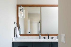 Contemporary Blue Bathroom Design