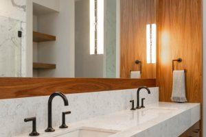 Contemporary Walnut Bathroom Vanity
