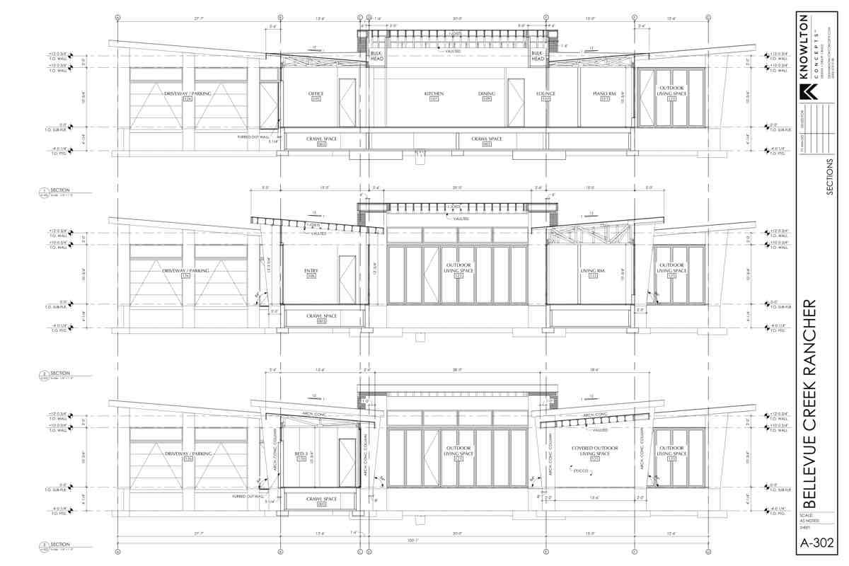 Bellevue Creek Rancher Garage Plans