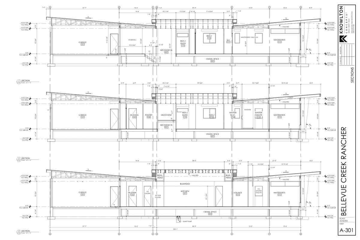 Bellevue Creek Rancher Kitchen Plans