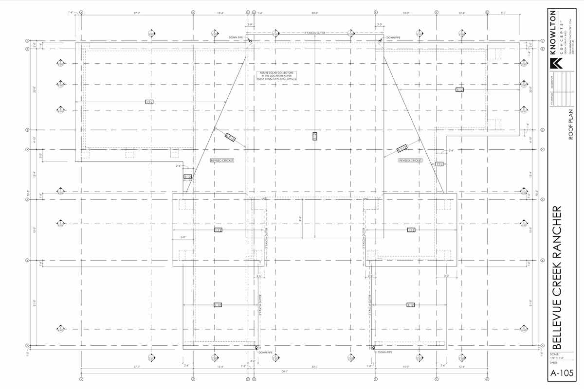 Bellevue Creek Rancher Roof Plan
