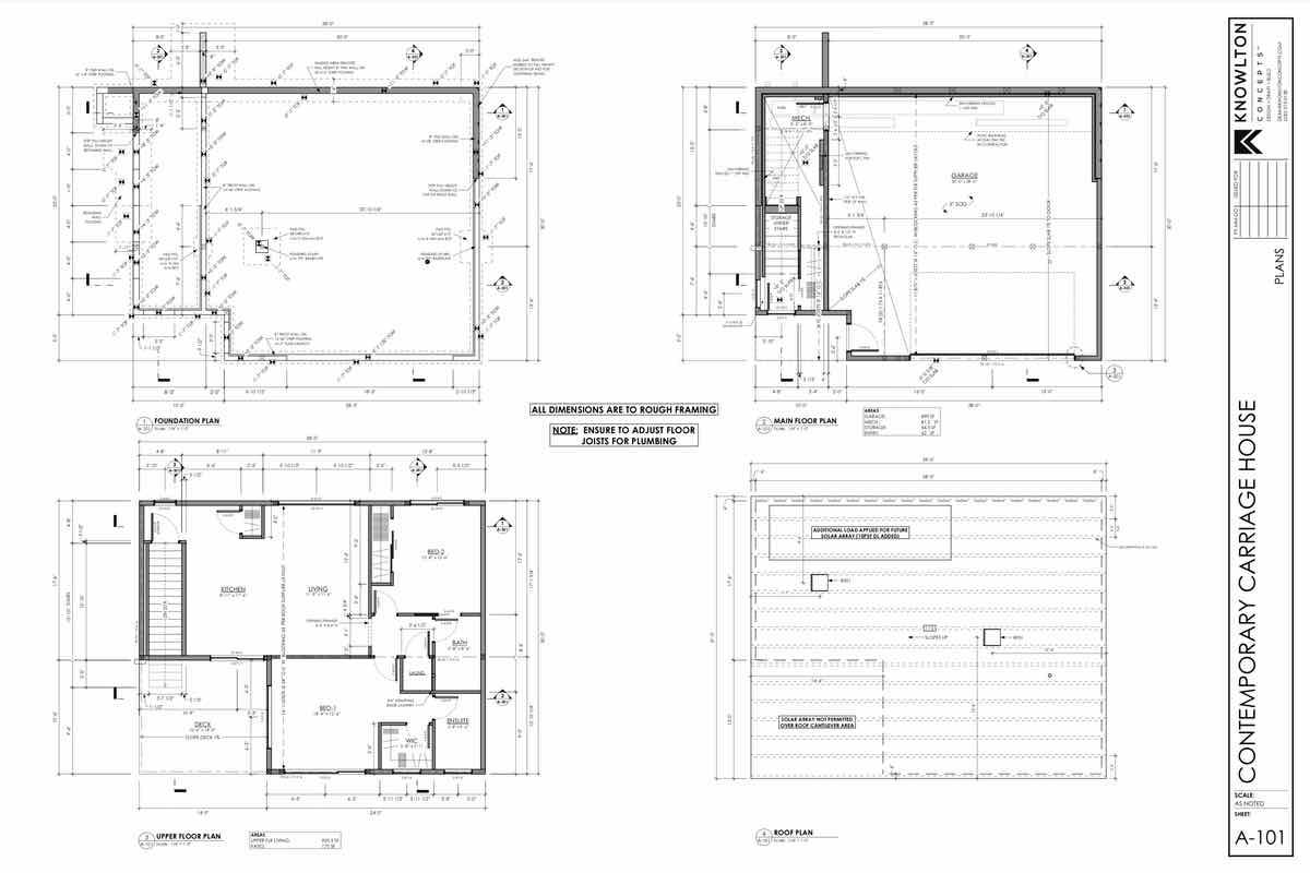 Contemporary Carriage House Floor Plans