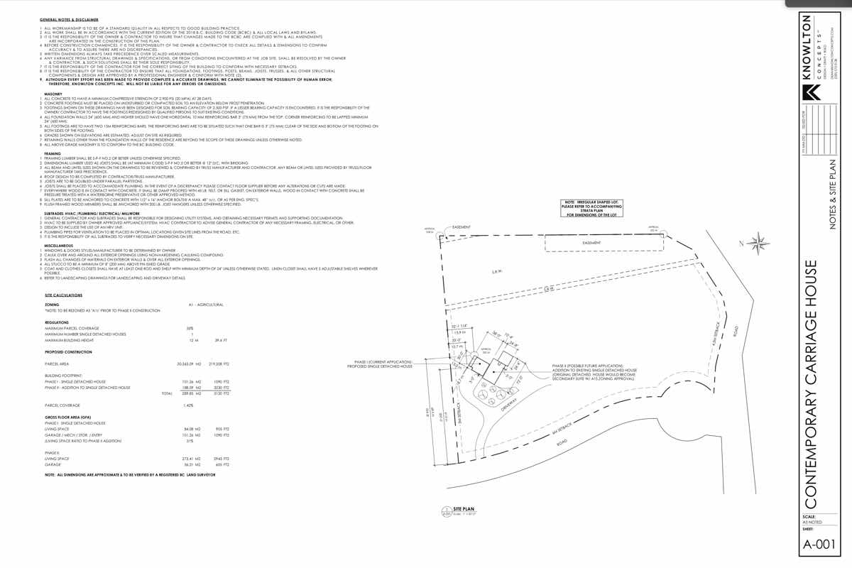 Contemporary Carriage House Site Plan