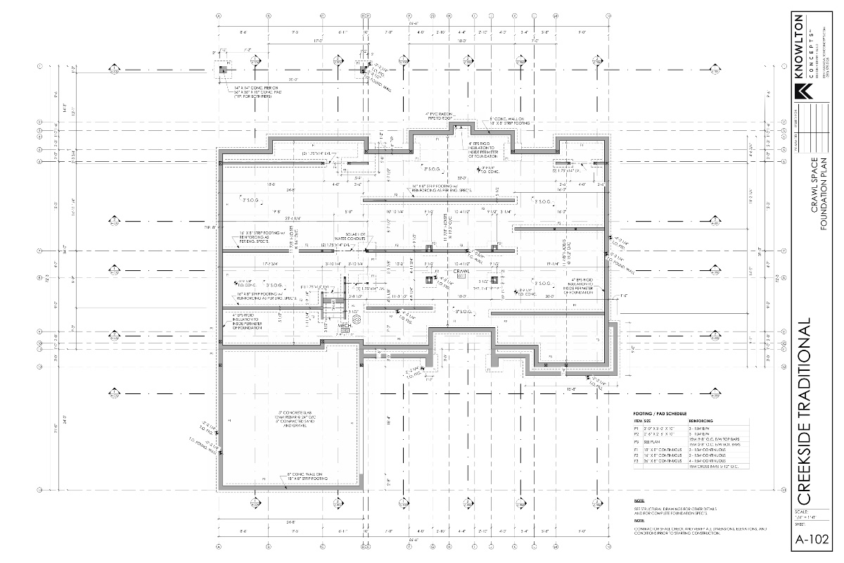 Creekside Traditional Foundation Plan