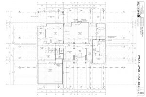 Creekside Traditional Main Floor Framing Plan