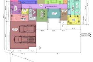 Creekside Traditional Main Floor Space Planning