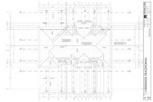Creekside Traditional Roof Plan