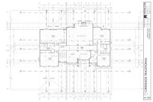 Creekside Traditional Upper Floor Framing Plan