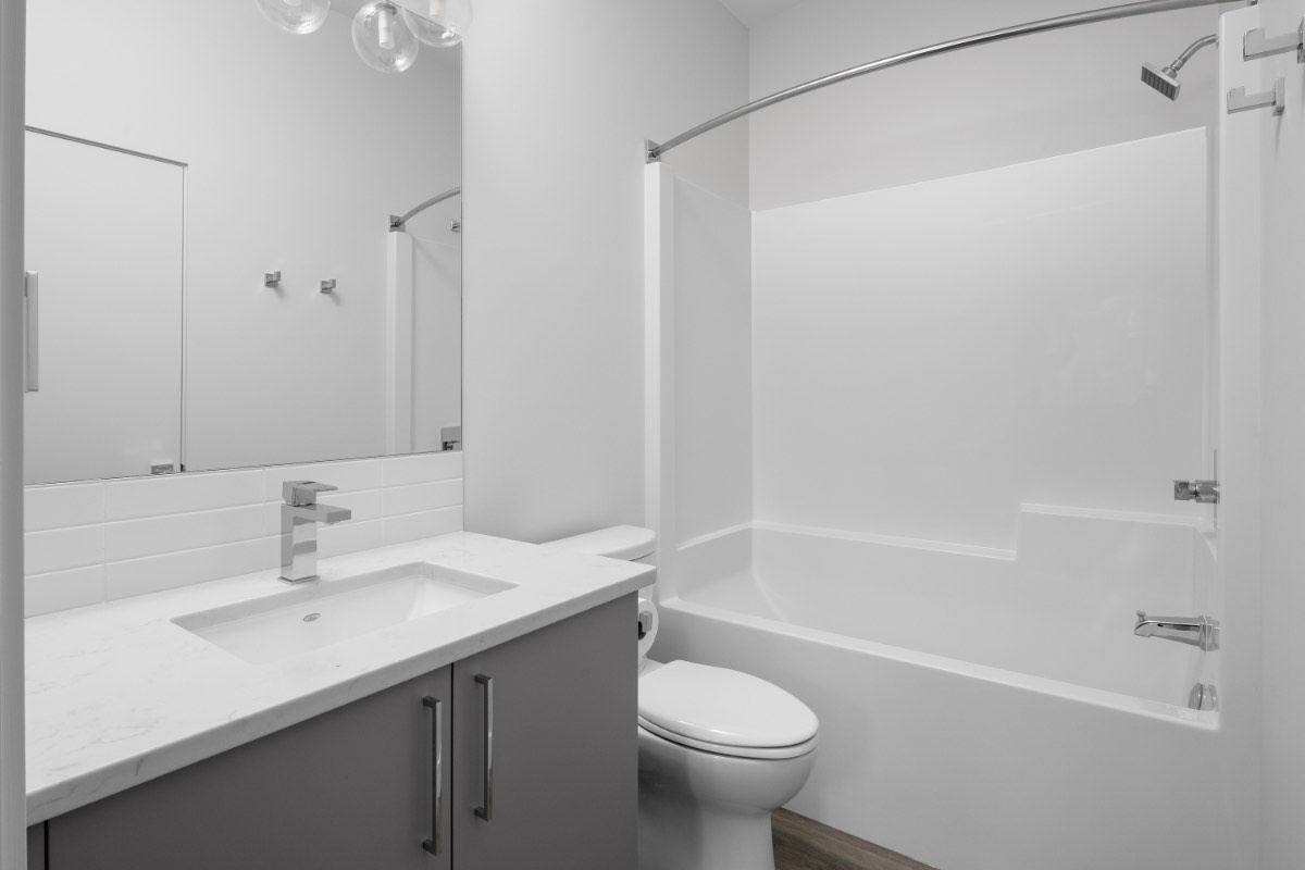 Contemporary Carriage House Guest Bath