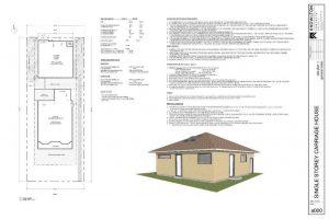 Single Storey Carriage House Site Plan